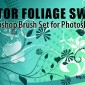 25 Foliage Swirls Photoshop Brushes