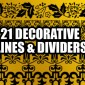 21 Decorative Lines Photoshop Brushes