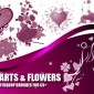 21 Hearts and Flower Photoshop Brushes