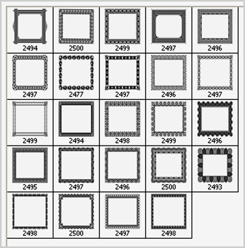 frame brushes for Photoshop