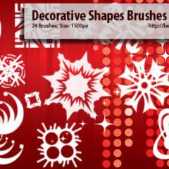 24 Decorative Shapes Photoshop Brushes