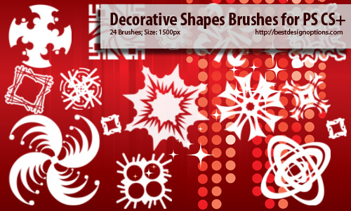 decorative shapes Photoshop brushes