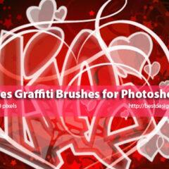 22 Graffiti Letters Photoshop Brushes Vol.1