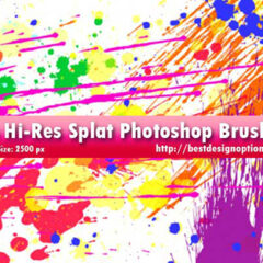26 High-Res Splatters Photoshop Brushes