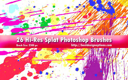 splatters Photoshop brushes