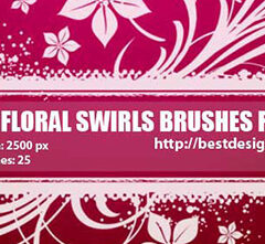 Swirls and Flowers Brushes for Photoshop Vol. 2