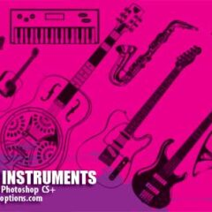 16 Musical Instruments Photoshop Brushes Part 1