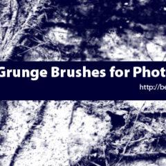 24 Grunge Backgrounds Photoshop Brushes