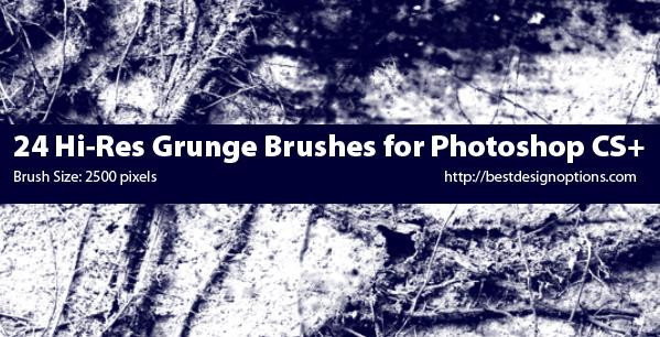 grunge backgrounds Photoshop brushes