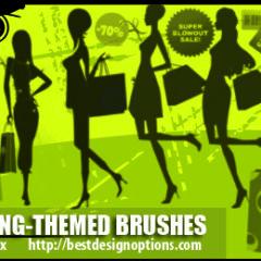 13 Shopping Clip Art Photoshop Brushes