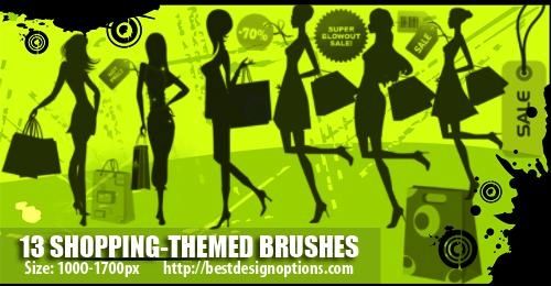 shopping clip art Photoshop brushes