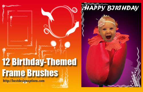 birthday postcards Photoshop brushes