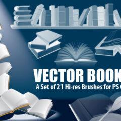 21 Clip Art Books Photoshop Brushes