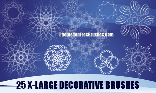 Decorative Patterns Photoshop Brushes