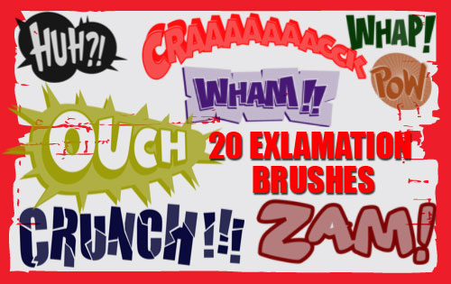 Exclamation Photoshop Brushes