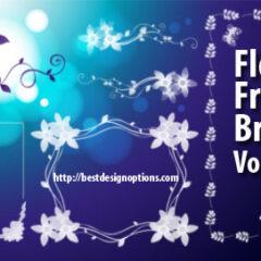 13 Floral Frames Photoshop Brushes Part 2
