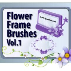 13 Flower Frames Photoshop Brushes Part 1