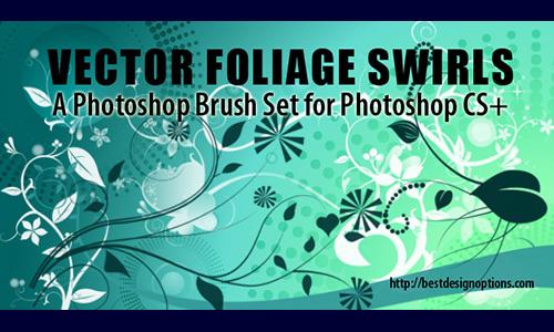foliage swirls Photoshop brushes