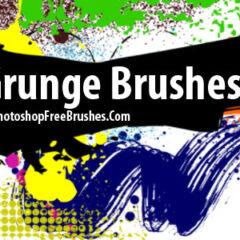 26 Ink Grunge Brushes for Photoshop