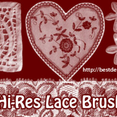 17 Vintage Lace Photoshop Brushes Part 1