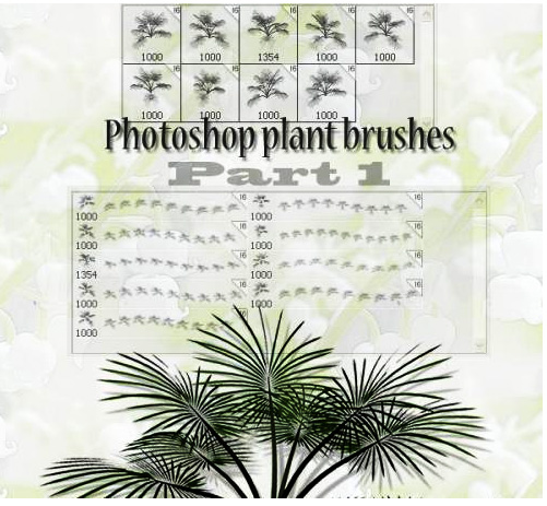 plants Photoshop brushes