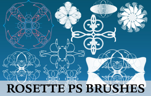 ornament photoshop brushes-rosettes