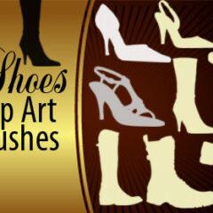 13 Shoes Clip Art Photoshop Brushes