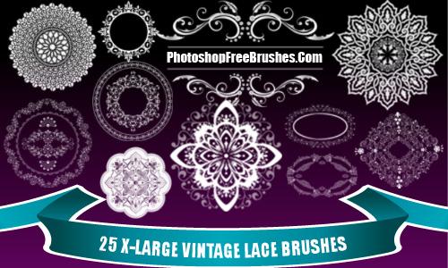 Vintage Lace Photoshop Brushes