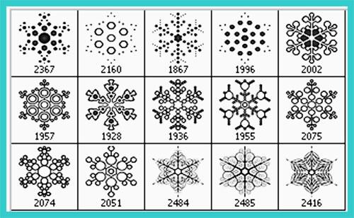 Christmas snowflakes Photoshop brushes