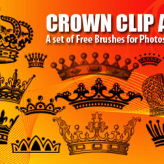 12 Crown Clip Art Photoshop Brushes Vol.1
