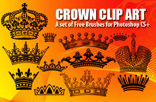 This set was of crown clip art Photoshop brushes was created using Photoshop