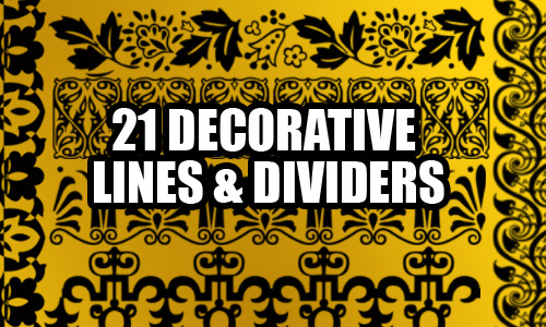 Decorative Lines Photoshop Brushes