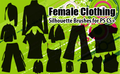 Female Clothing Photoshop Brushes