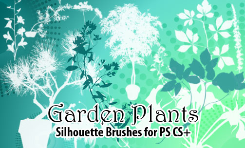 garden plants photoshop brushes