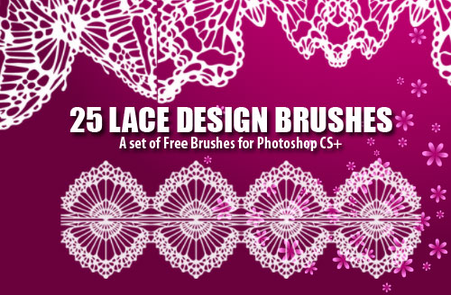 lace design photoshop brushes