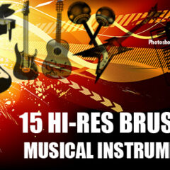 15 Musical Instruments Photoshop Brushes Part 2