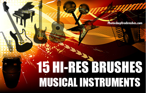Musical Instruments Photoshop Brushes