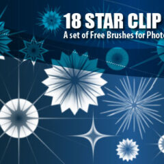 18 Star Clip Art Photoshop Brushes