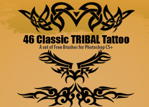 tribal tattoo designs photoshop brushes