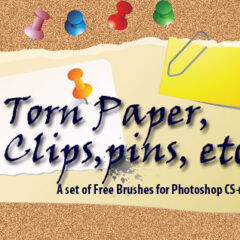 20 Torn Paper Photoshop Brushes