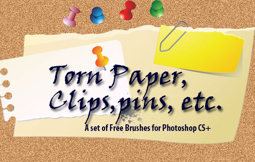 Torn Paper Photoshop Brushes
