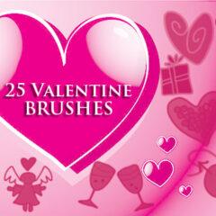 15 Valentine Clip Art Photoshop Brushes