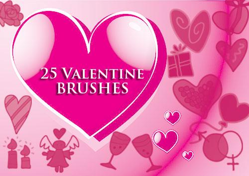 Valentine Clip Art Photoshop Brushes