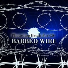 20 High-Res Barbed Wire Photoshop Brushes
