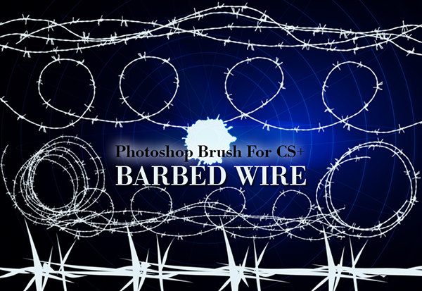 barbed wire photoshop brushes