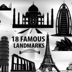 18 Famous Landmarks as Photoshop Brushes