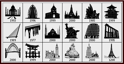 famous landmarks Photoshop brushes