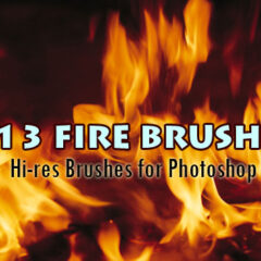 13 Hi-Res Fire Background Photoshop Brushes Part 1