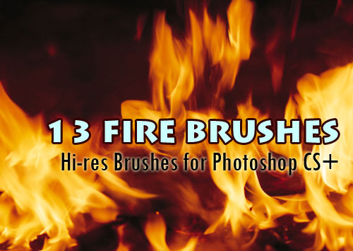 fire background Photoshop brushes