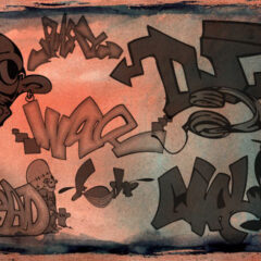 32 Graffiti Letters Photoshop Brushes Vol.2